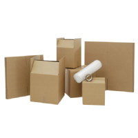 20 Regular Size Cardboard Removal Boxes With Bubble Wrap & Tape